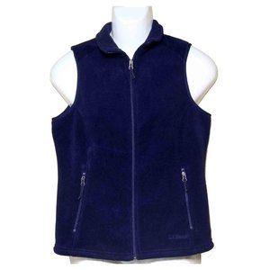 LL Bean Polartec Fleece Vest Navy Men's Size S